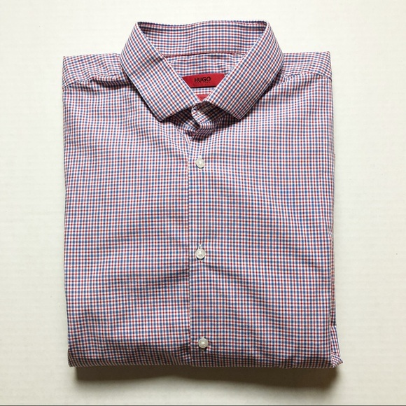 a39169a0 Hugo Boss Shirts | Slim Fit Checked Shirt | Poshmark
